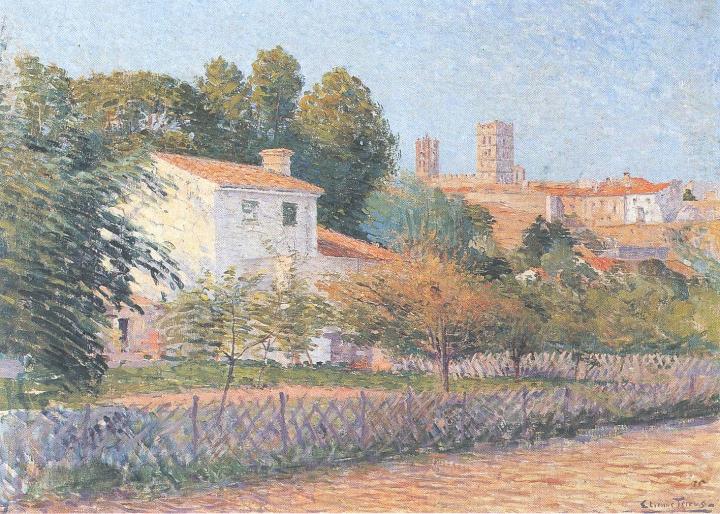 Étienne Terrus,  Vue d'Elne  (1900) (public domain image)