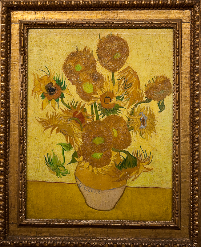 Vincent Van Gogh,   Sunflowers   (1889), via Wikimedia Commons
