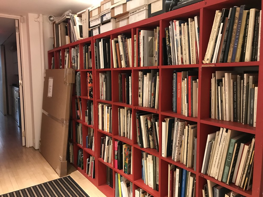 Laurence Miller Gallery 's backroom photobook library.