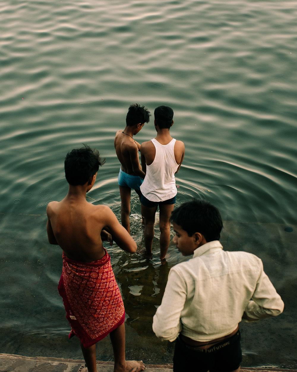 Bathing in the Ganges River, Varanasi, India, 2018 ,  Brian Flaherty