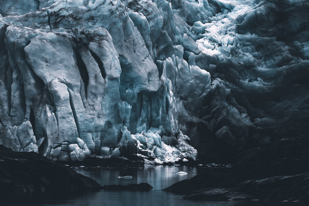 Nordenskiöld glacier, Spitsbergen , from the series  Memento Mori ,  Jan Erik Waider
