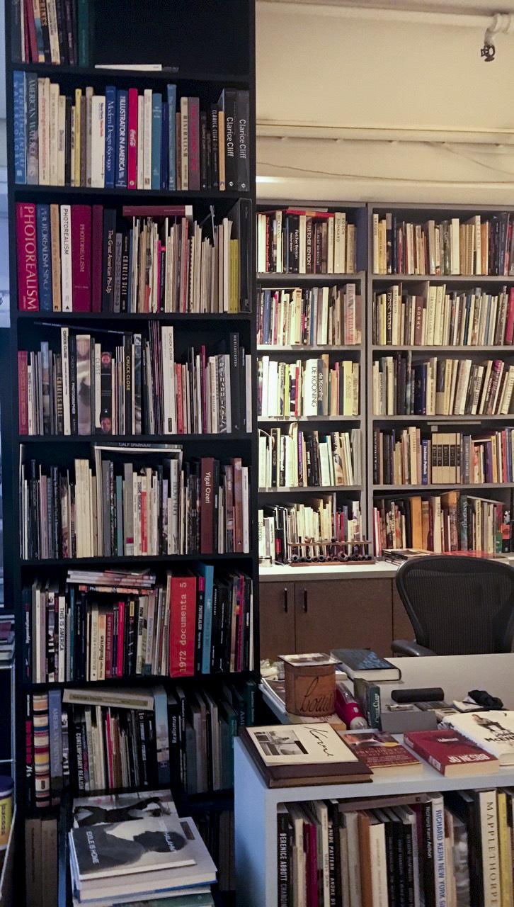 Louis K. Meisel's sprawling art library.