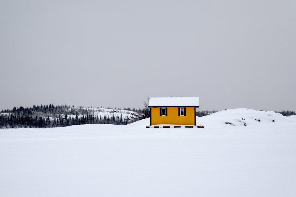 Yellow Houseboat on Great Slave Lake ,  Dyanne Wilson