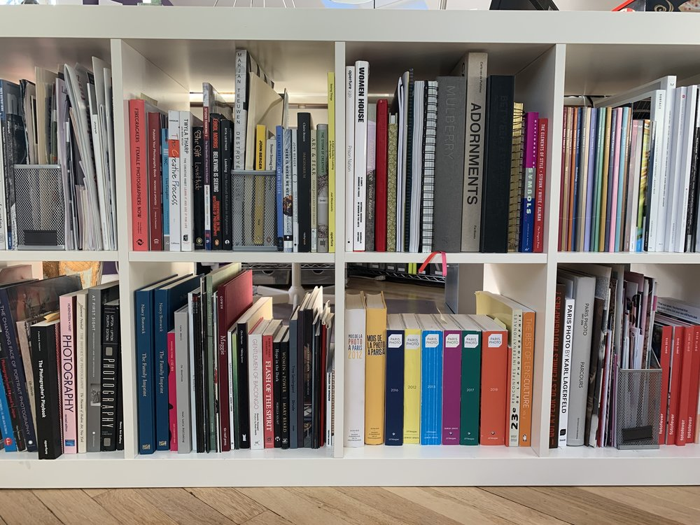 J. Sybylla Smith 's office shelves.