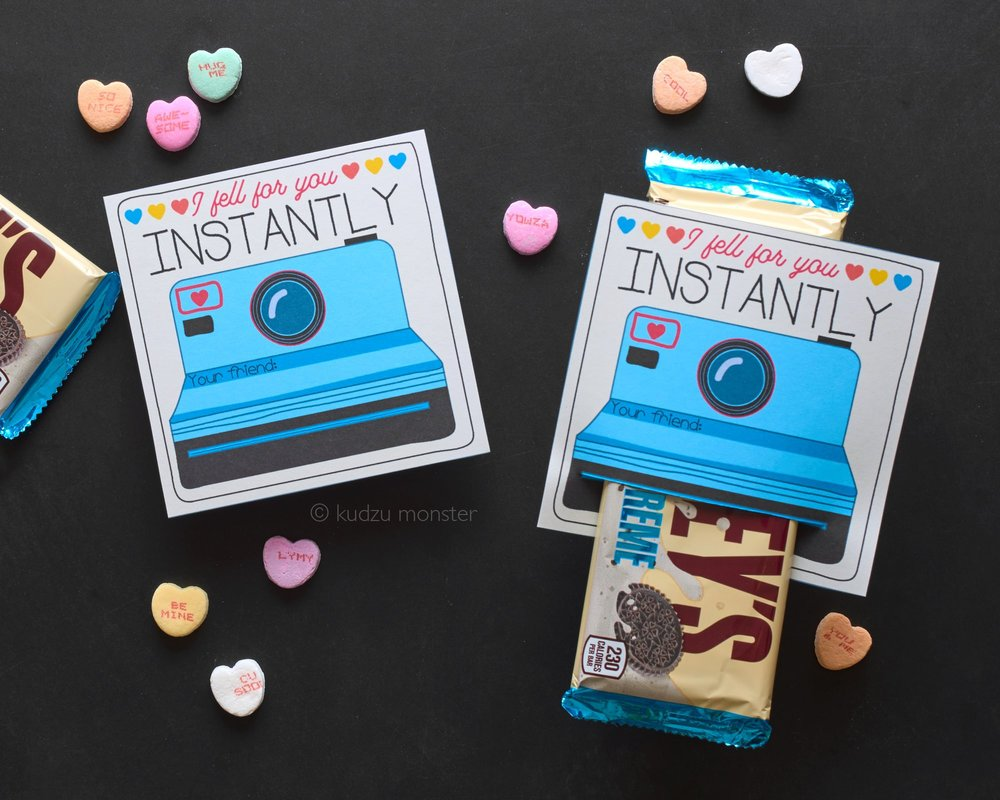 Printable Instant Camera Valentine. From  Kudzu Monster