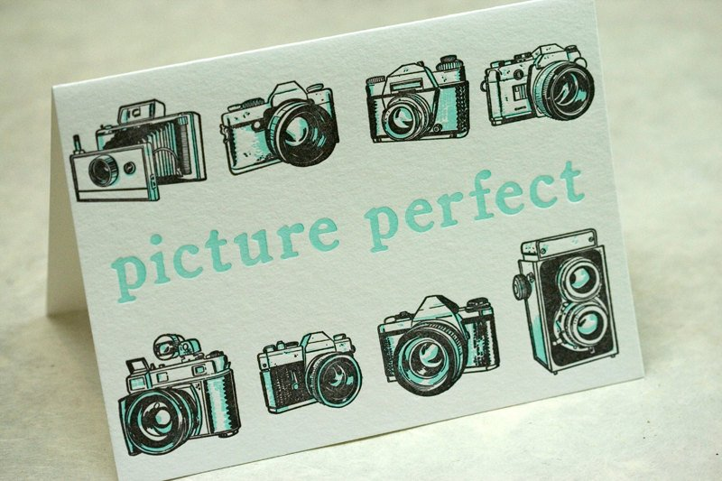 Picture Perfect letterpress card by  Papillon Press