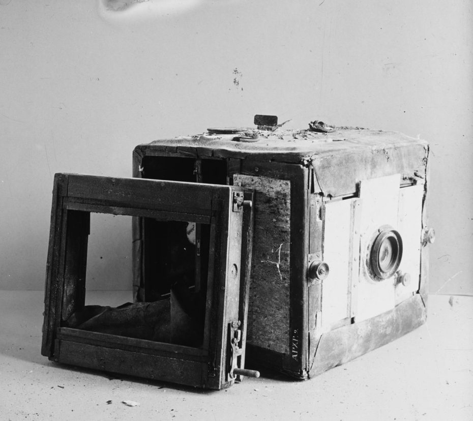 Neil Stridberg's camera discovered in ice 1933.