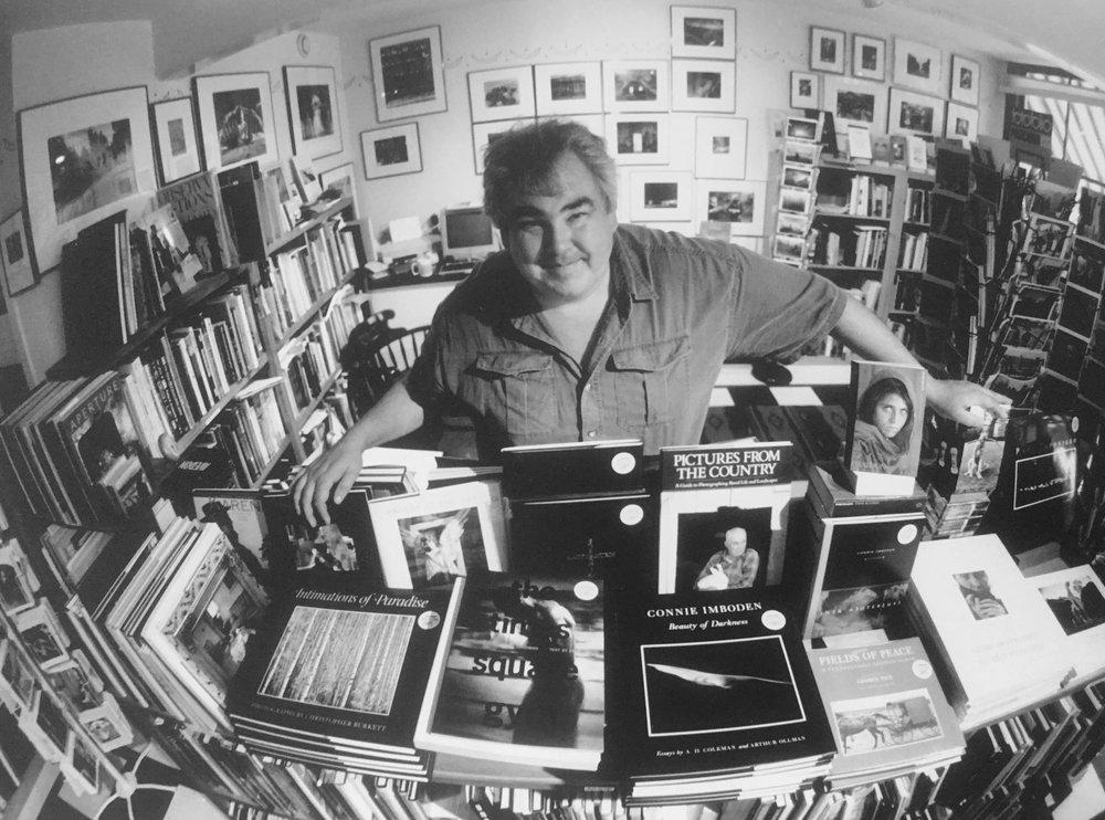 Tim Whelan in his store.