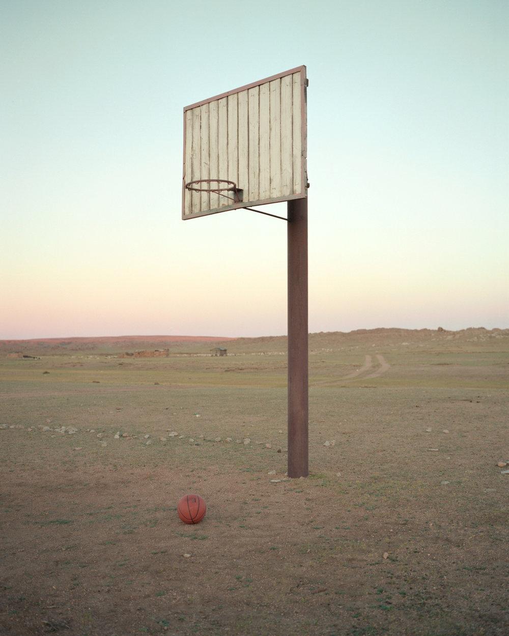 Basketball Court, Dundgovi, Mongolia, 2018 ,  Adam Ianniello