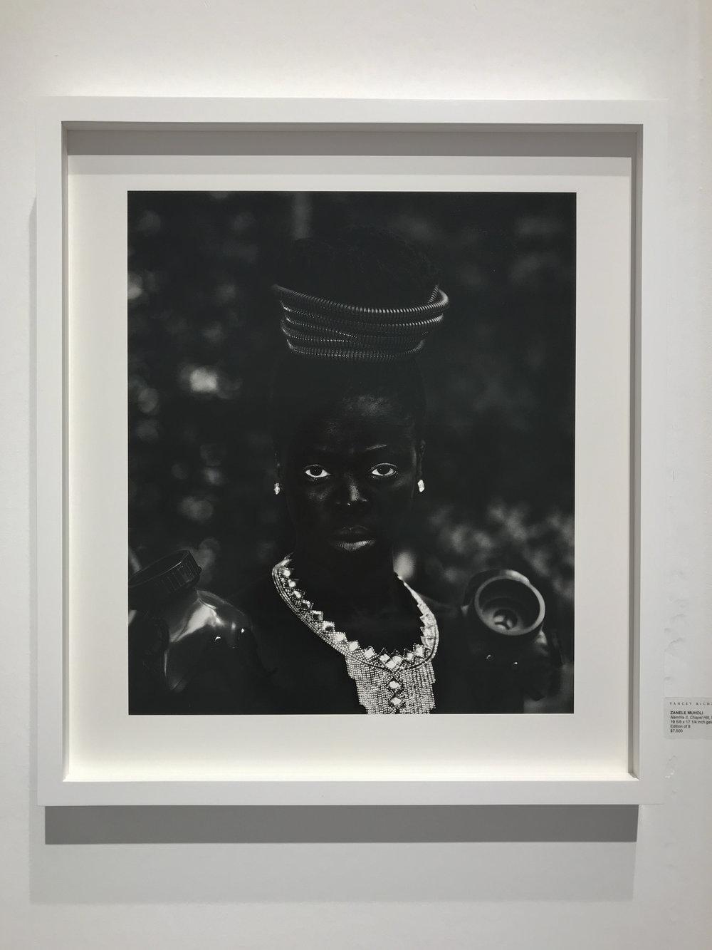 Zanele Muholi,  Namhla II, Chapel Hill, North Carolina , 2016, gelatin silver print, 19 5/8 x 17 1/4 inches