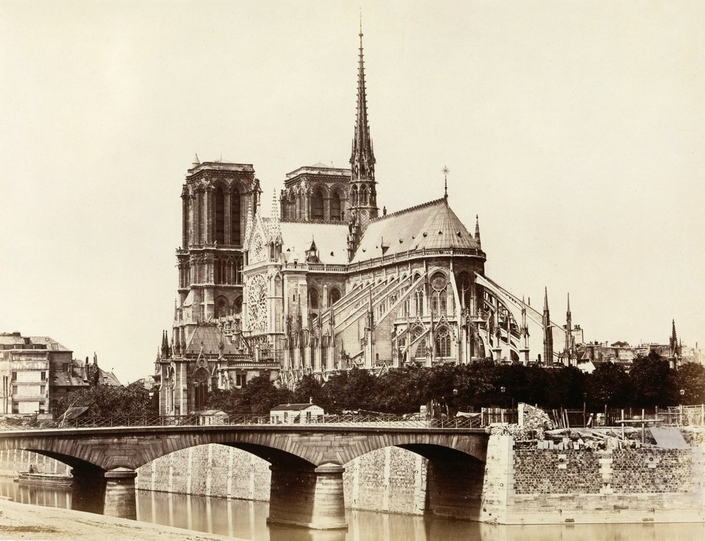 Notre Dame By Édouard Baldus, 1860. Via  Wikimedia Commons