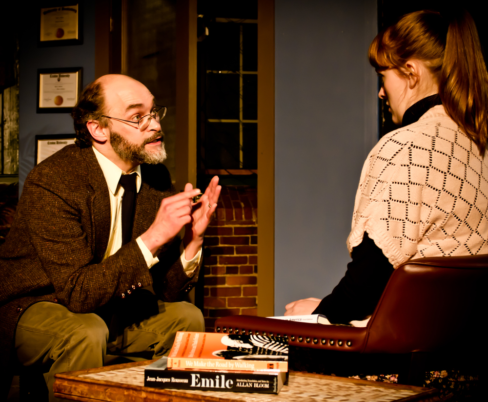 2011, 'Oleanna', by David Mamet. t.u's first main stage production.   Photo Credit: Dan Dupuis