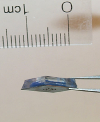 Micro-needle surface of micro-syringe, fabricated by Boris Stoeber