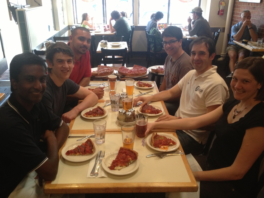 Lab Dinner @ Zachary's Pizza (2014)