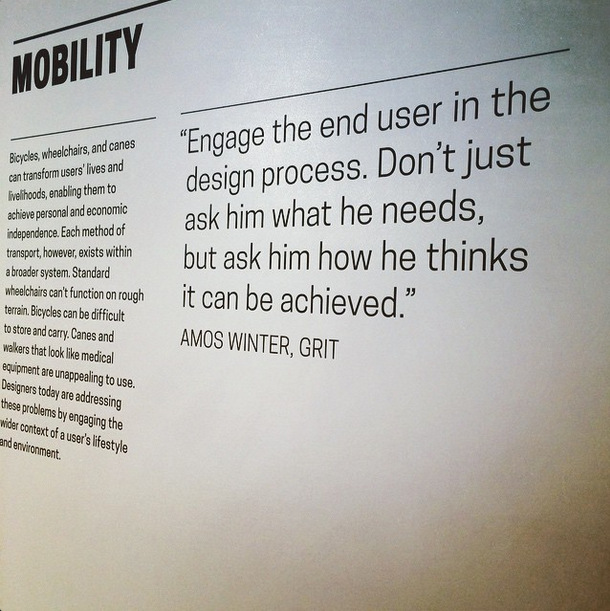 What reasonable advice for patient centered care! Cooper Hewitt Design Museum
