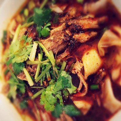 spicy lamb noodles