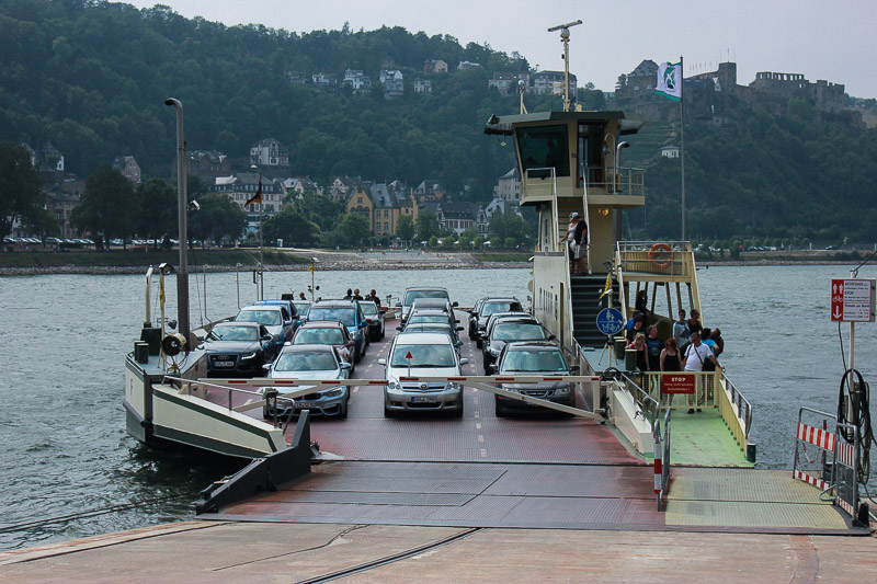 Ferries that took cars and people across from one side of the river to the other.