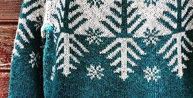 Boreal   design by Kate Davies featured in Loch Lomond colourways Petrol (Teal) and Silver; hand knit by Ravelry knitter: whitstep