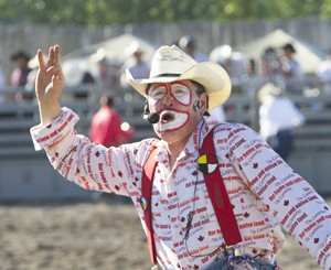Jayson Charters - 2014 Smithers Rodeo Club Clown Specialty Act in #Smithers