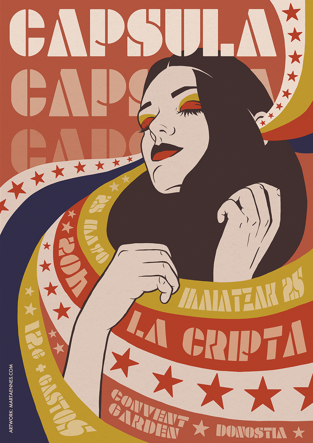 Capsula Poster Band Grupo Cápsula Tour Marta Ennes Donostia