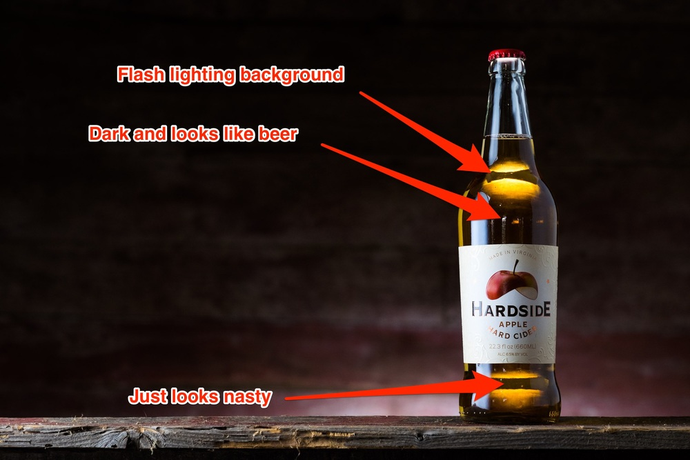 Hard Apple Cider Photo Gone Wrong
