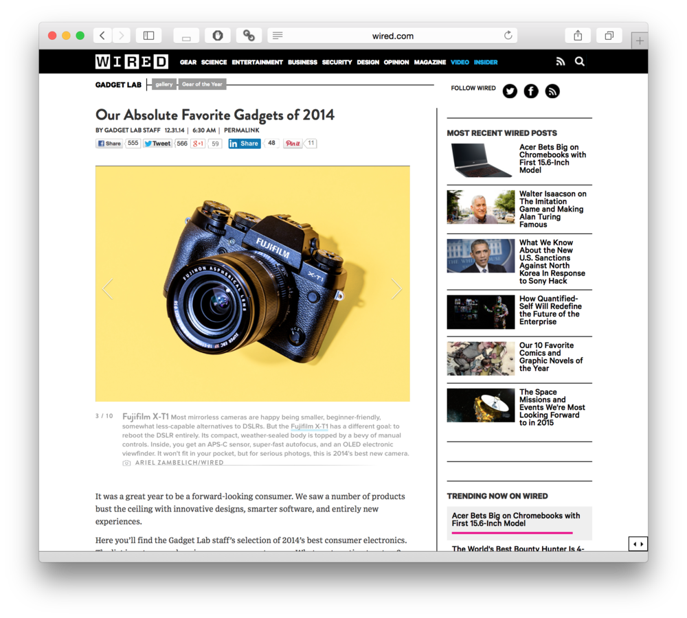 Wired Gadgets of 2014