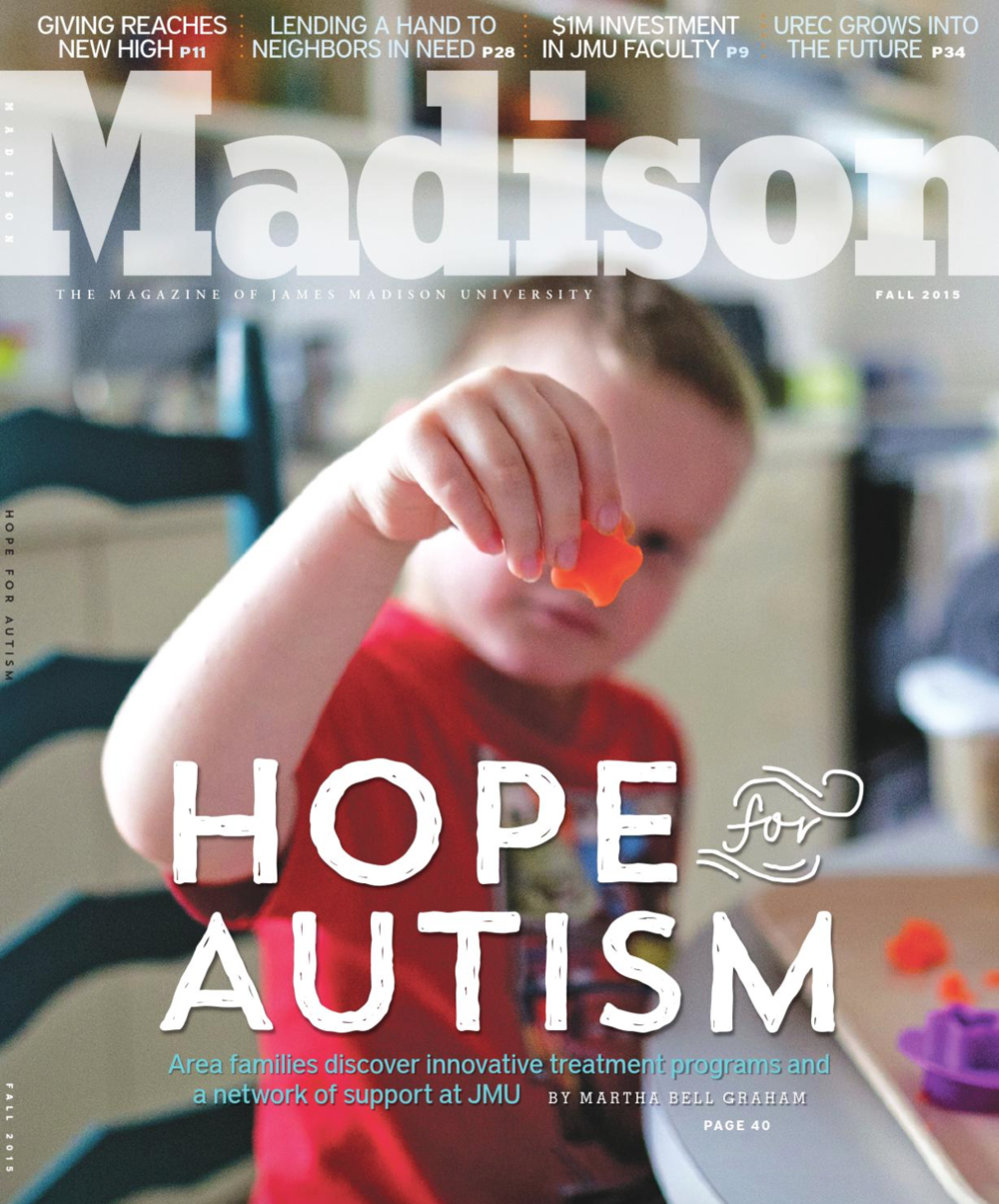 Madison Magazine Cover Hope for Autism