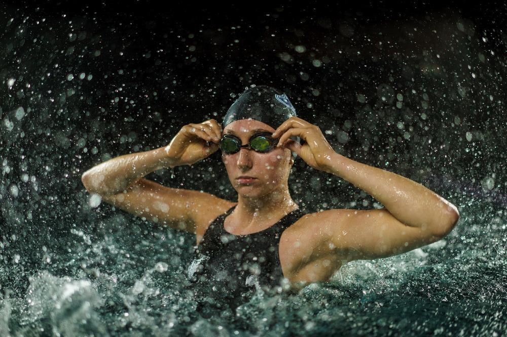 Dramatic Swimmer Portrait