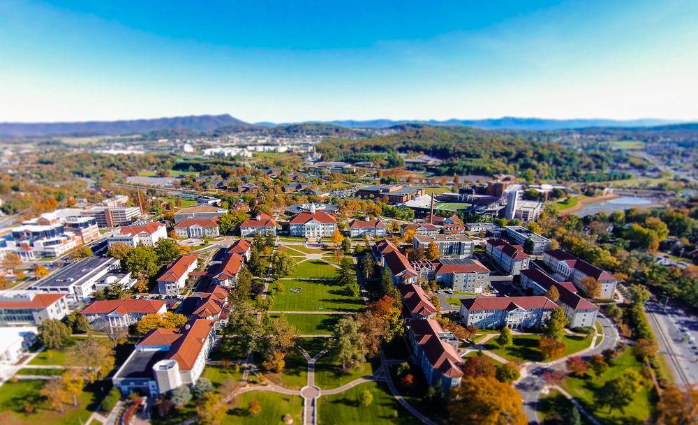 Aerial Photo of James Madison University