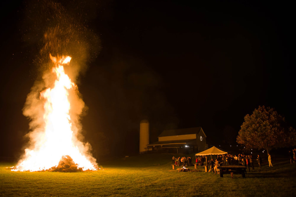 Huge Bonfire in at Wedding in Harrisonburg