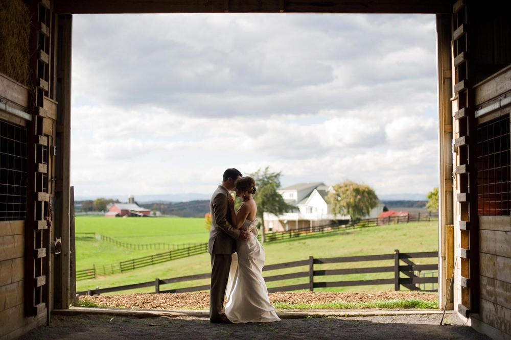 Couples Wedding Photography in Horse Stable in Harrisonburg