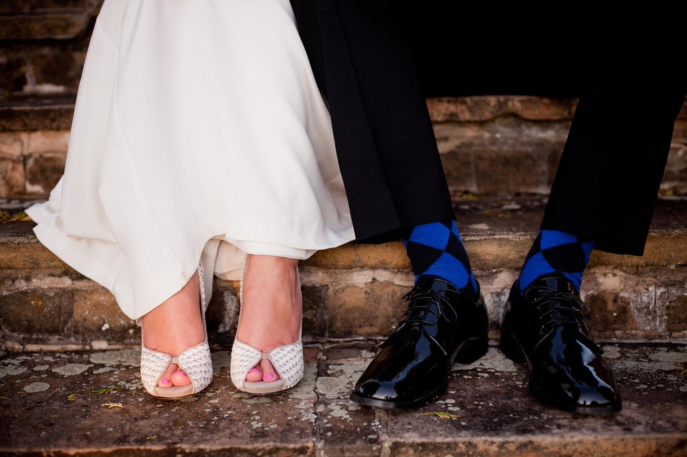Wedding Couple's shoes and socks