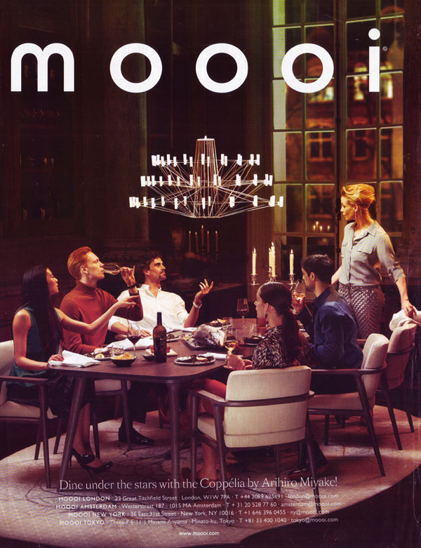 Fig 2. Moooi Advert - Dine Under The Stars. (Moooi, 2016)