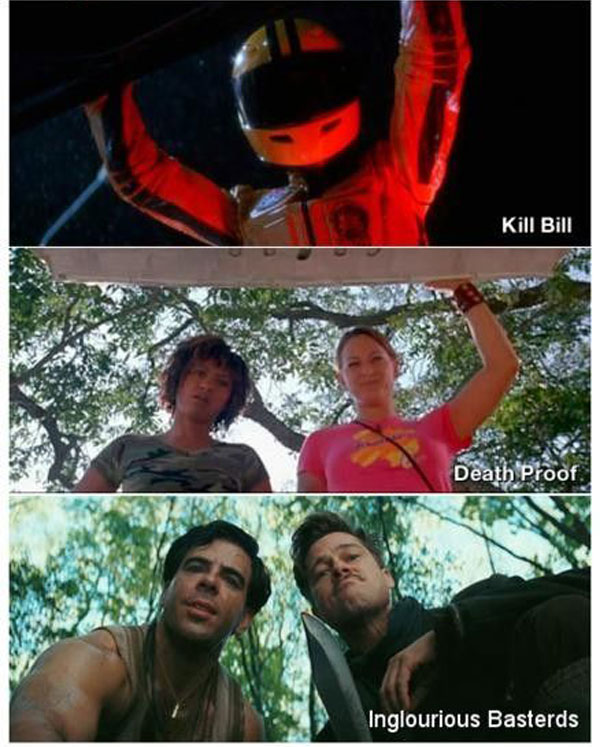 Other examples where Tarantino has used the 'Trunk shot' first seen in LSB.