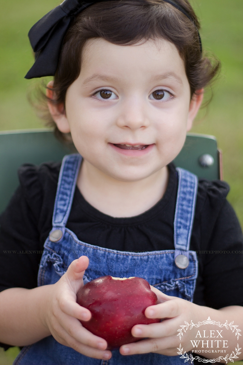 She got so excited about the apple, she went right for it and didn't let go of it the rest of the shoot :)