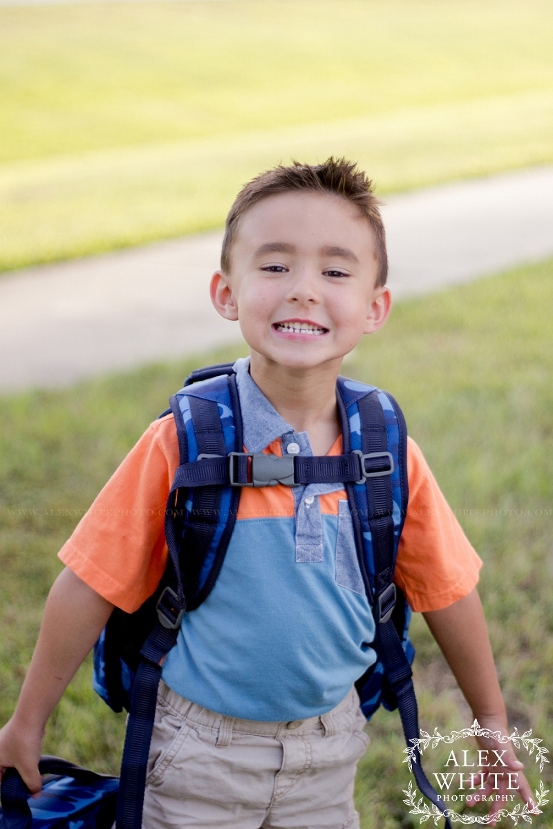 All smiles and ready for his first day