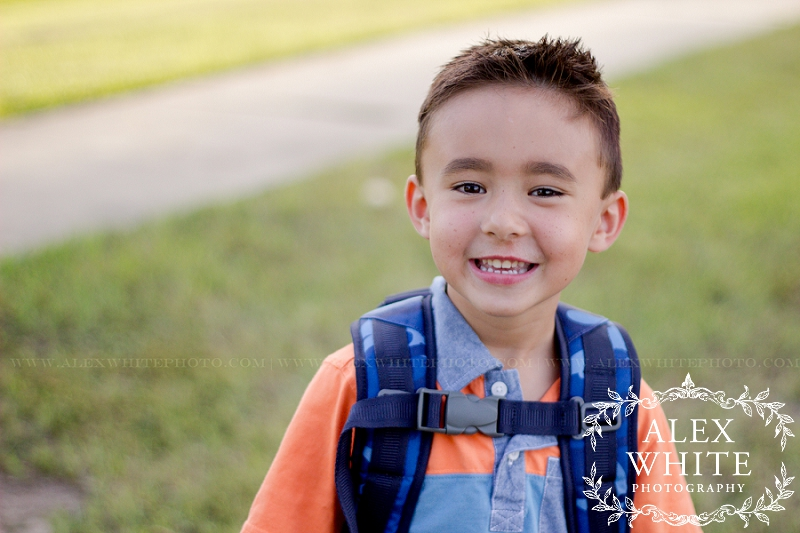 First Day of School Kindergarten The Woodlands, TX alexwhitephoto