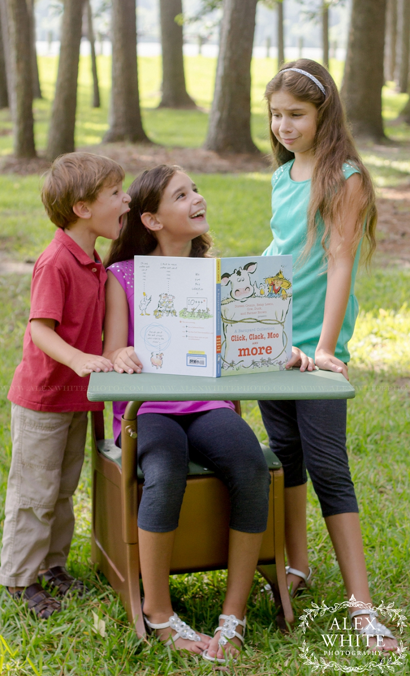Mom brought their favorite book to the photo shoot, they were so excited.