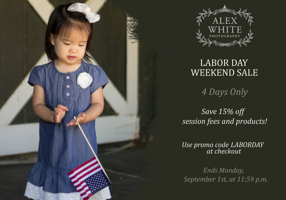 Labor Day Photography Sale alexwhitephoto Kingwood Photographer
