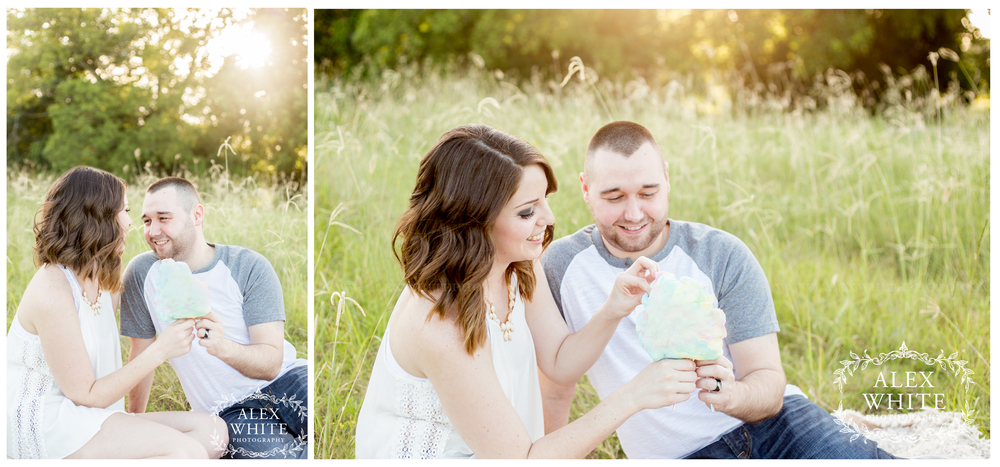 Just then, the sun peaked through the trees - making this session even more magical.