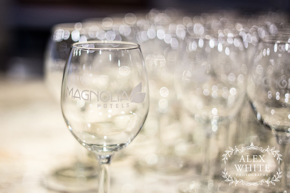 The wedding ceremony and reception took place at the stunning Magnolia Hotel in Houston, TX.