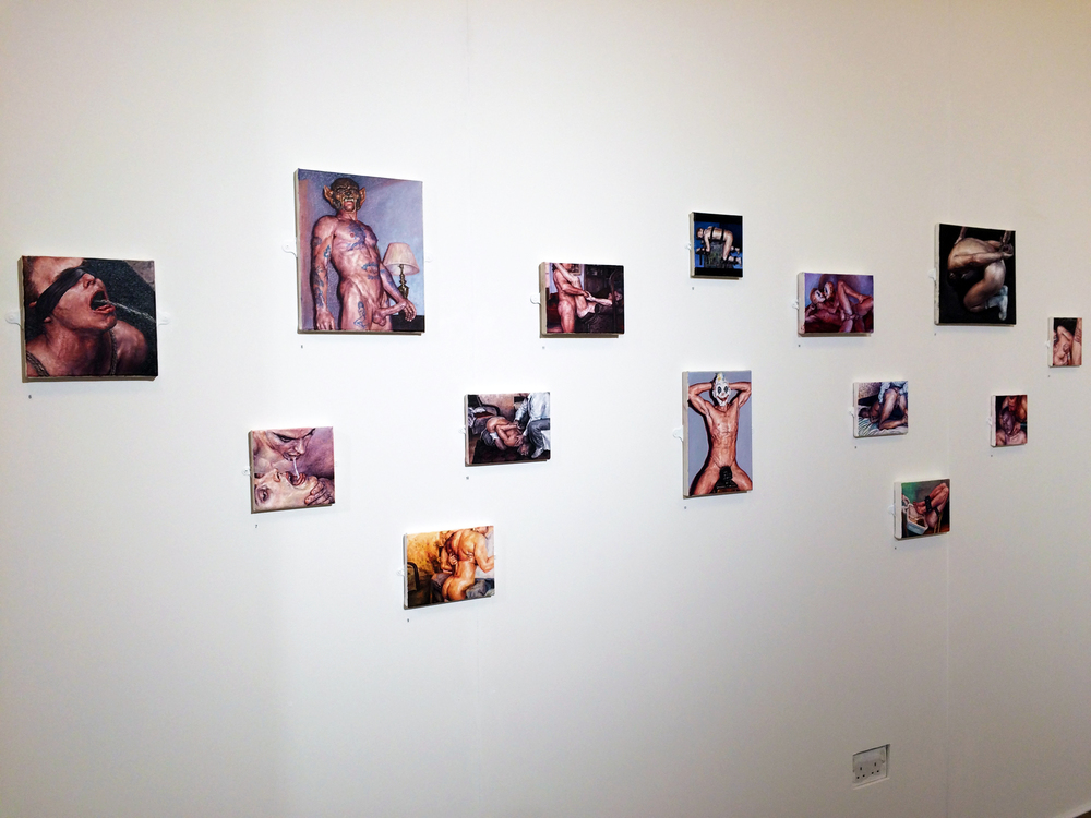 View of some of Matthew Stradling's work in the exhibition
