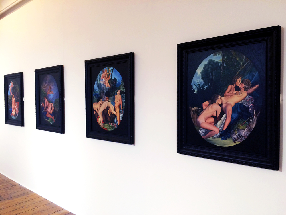 View of some of Sadie Lee's work from the exhibition