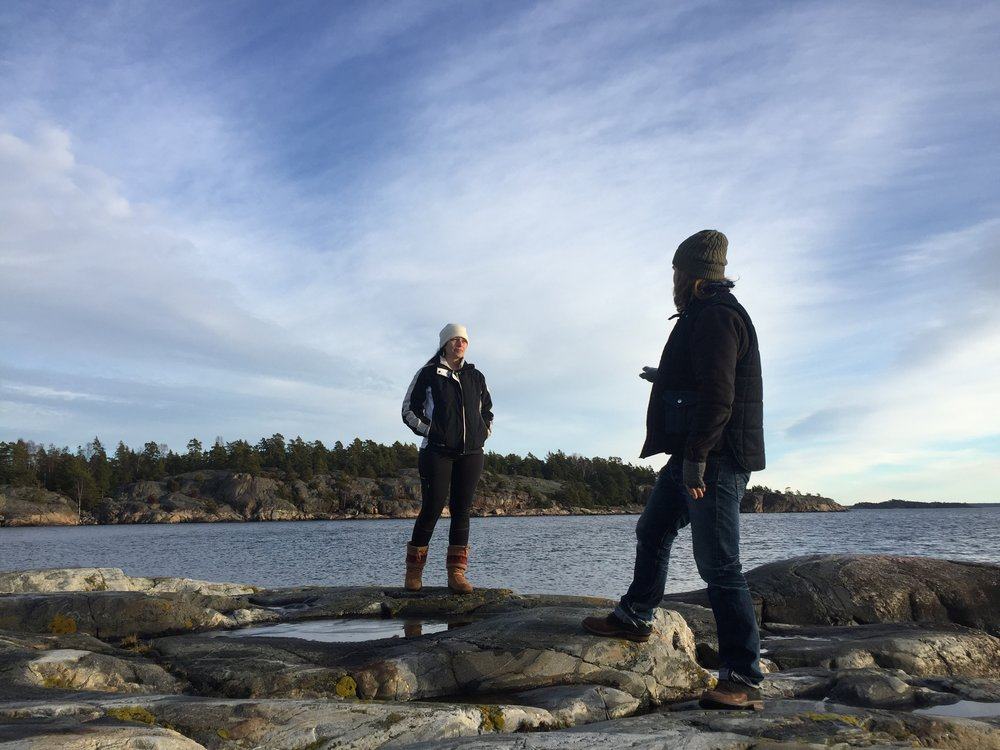Day hike at Nature preserve Sweden - Amanda & Mats of Indigo Fera