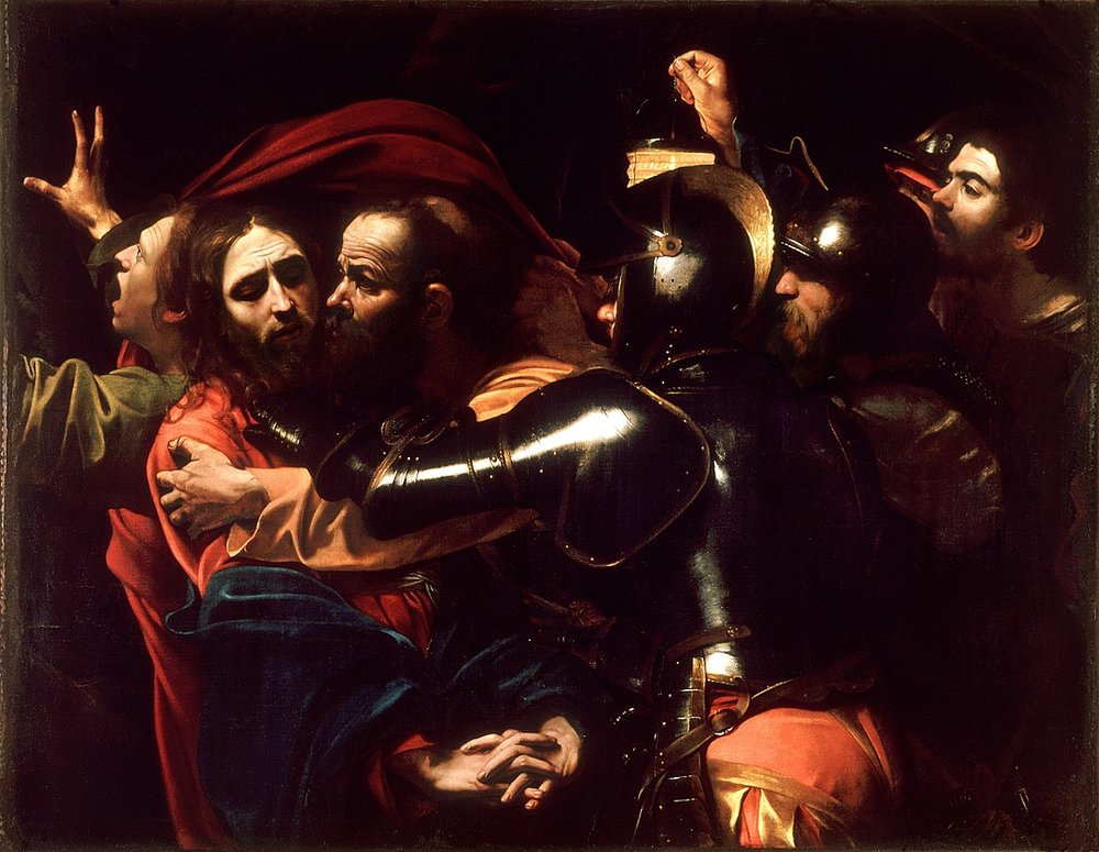 The Taking of Christ   by  Caravaggio , 1602