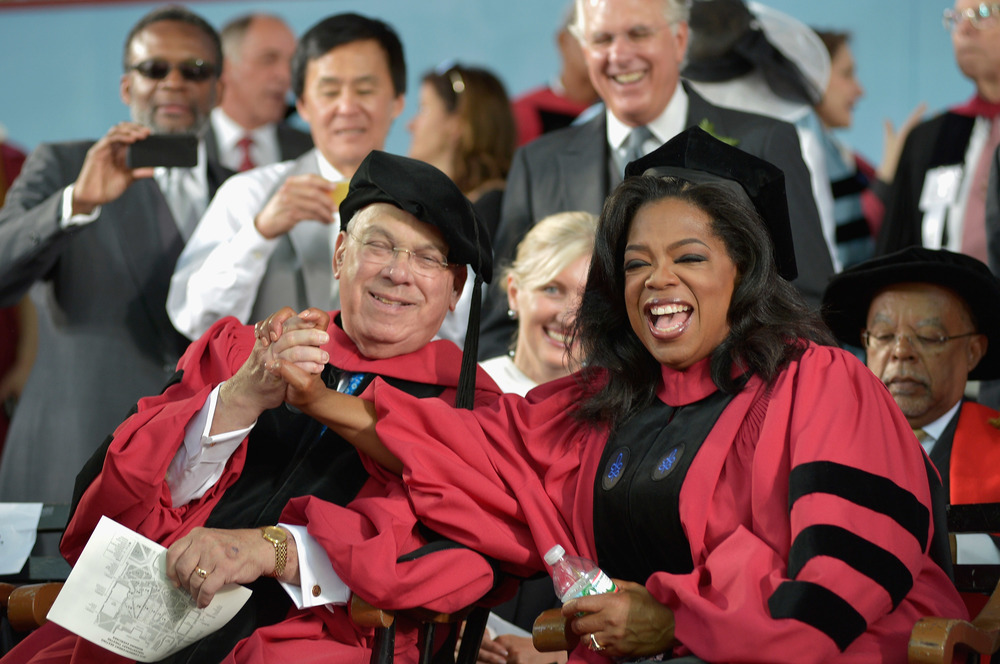 Tom Menino and Oprah Winfrey at Harvard
