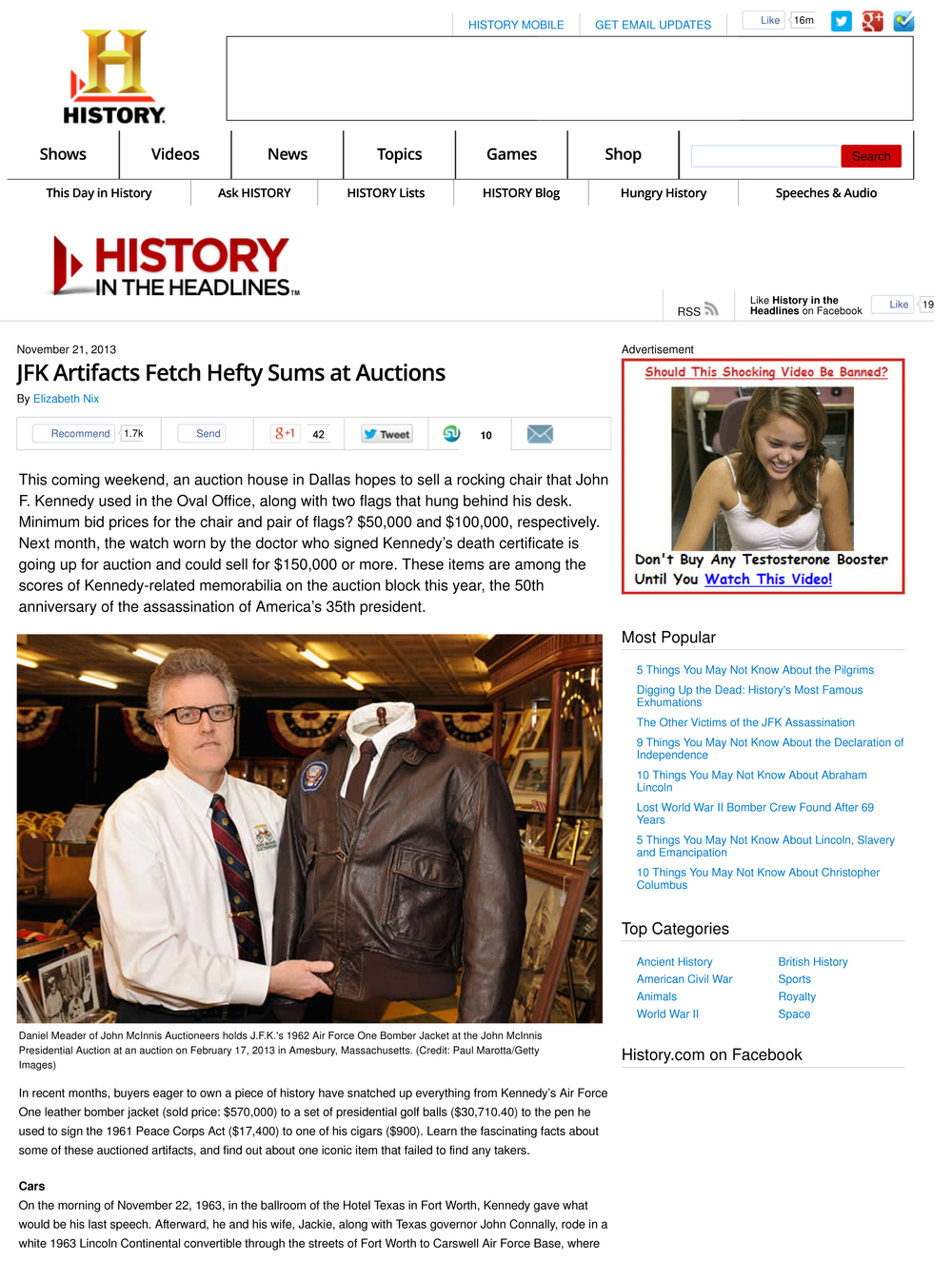 JFK Artifacts Fetch Hefty Sums at Auctions — History in the Headlines-1.jpg