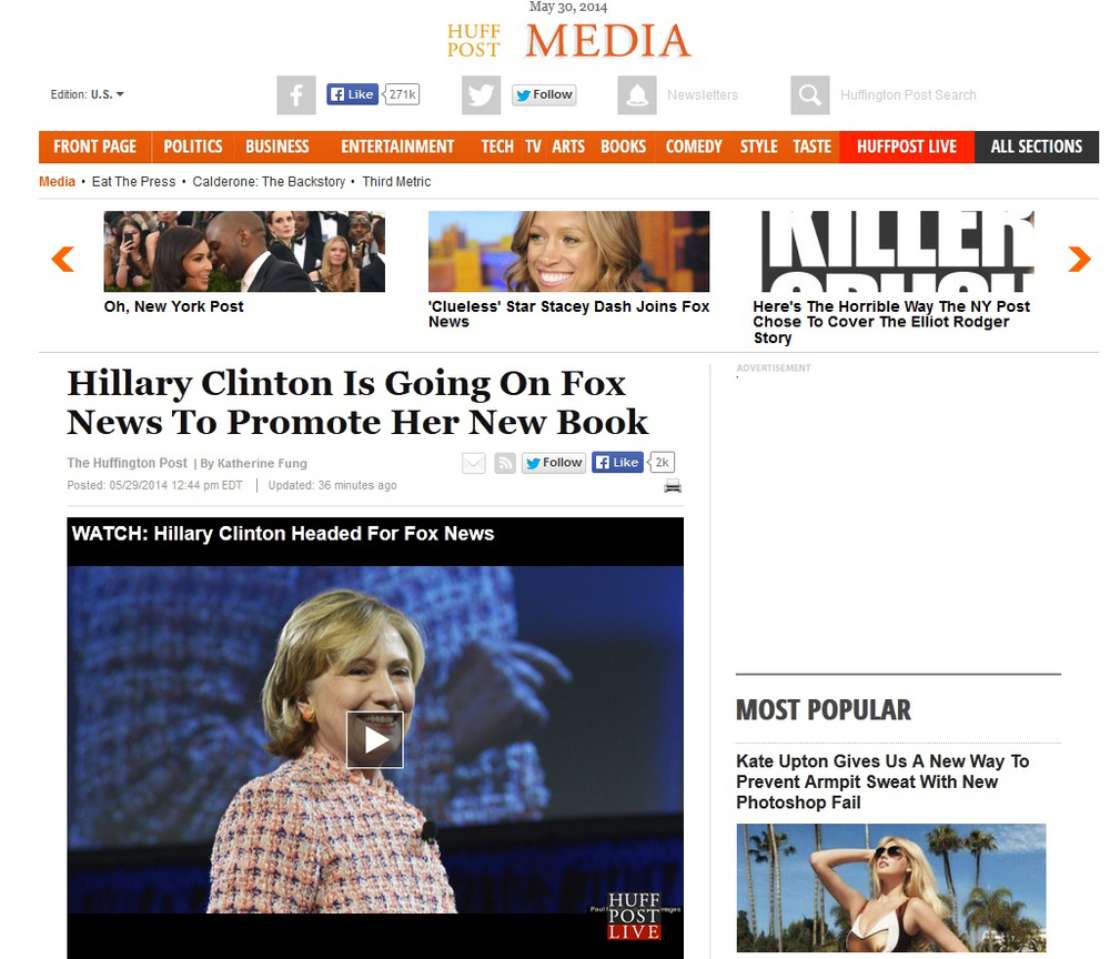 Hillary CLinton Huff Post Fox New Book.jpg