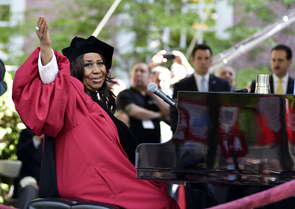 Aretha Franklin at Harvard Commencement 2014