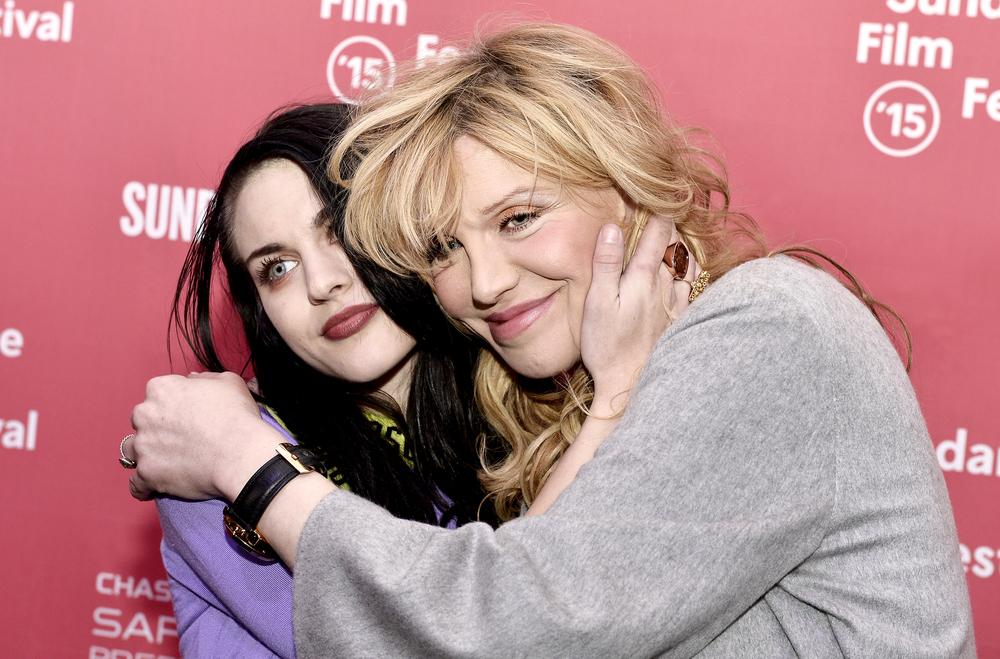 Frances Bean Cobain and Courtney Love at Sundance